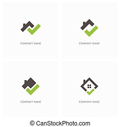 Real estate with check mark logo