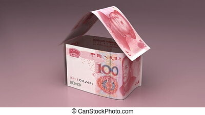Real Estate with Chinese Yuan - Real Estate Animation with...