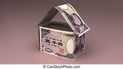 Real Estate with Japanese Yen - Real Estate Animation with...