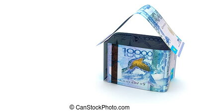 Real Estate with Kazakh Tenge - Real Estate Animation with...