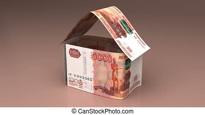 Real Estate with Russian Ruble - Real Estate Animation with...