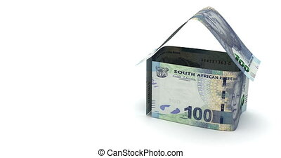 Real Estate with South African Rand - Real Estate Animation...