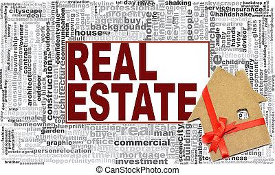 real estate, wort, wolke
