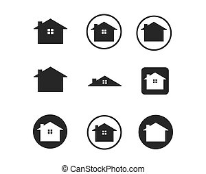 real estate,house,building icon vector  logo
