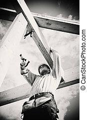 real, ferramentas, carpinteiro