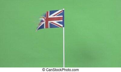 Real flag of United Kingdom of Grea