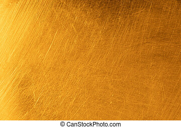 Real gold scratched metal texture