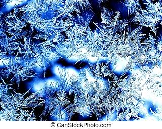 real ice-window - Ice Crystals on a window