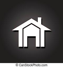 real, image., propriedade, casas, vetorial, ícone