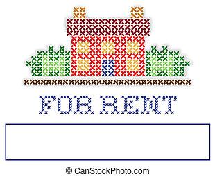 real, jarda, aluguel, propriedade, sinal