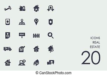 real, jogo, propriedade, ícones