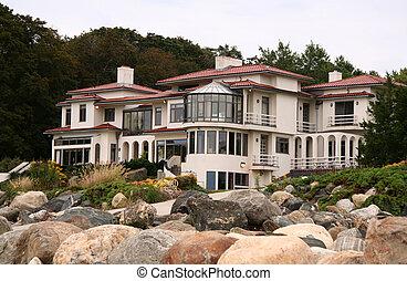 real, lar, luxo, propriedade