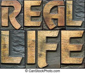 real life wooden letterpress