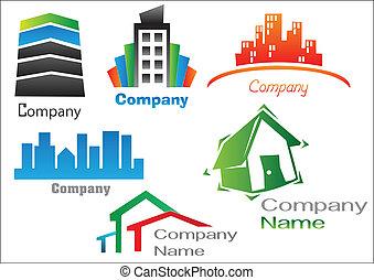 real, logotipo, 2, propriedade, pacote