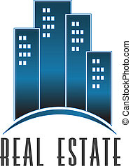 real, logotipo, edifícios, vetorial, propriedade
