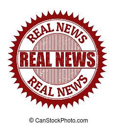 Real news stamp