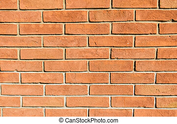 real orange red brick wall masonry background
