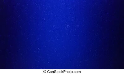real particles in blue water seamless loop
