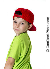 Real people ( child wearing a red cap