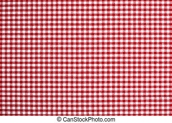 Real picnic table cloth - Detailed red picnic cloth - The...