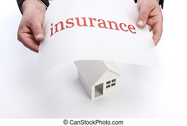 insurance concept  - Real property or insurance concept