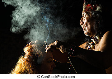 Real Shamanic Ceremony - Shaman In Ecuadorian Amazonia...