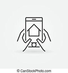 real, smartphone, via, propriedade, achar