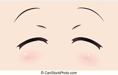 Real smiling anime eyes (manga) girls
