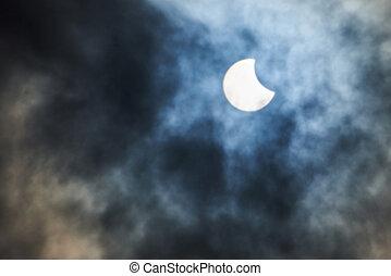 Real solar partial eclipse