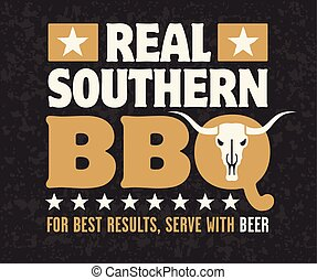 Real Southern Barbecue Emblem