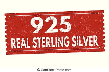 Real sterling silver sign or stamp