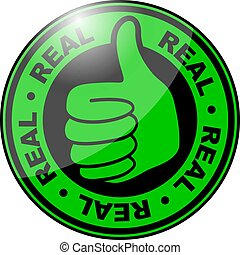 Real thumbs up icon