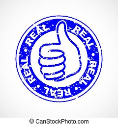 Real thumbs up stamp