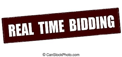 Real time bidding - Stamp with text real time bidding inside...