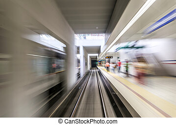 Real tunnel with high speed