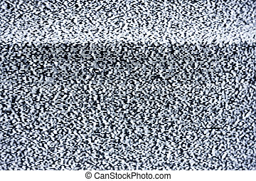 real tv static - Analog television with white noise