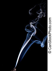 real twisting smoke - Real smoke flowing up from a burning...