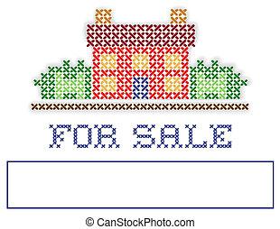 real, venda jarda, propriedade, sinal