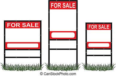 real, venda, propriedade, sinais