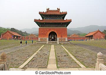 real, zunhua, 2012, 13, poder, oriental, dinastía, zunhua, provincia, pabellones, qing, tabletas, shinto, tumbas, china., ciudad, hebei, 13: