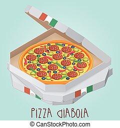 reale, box., diabolical., diabola., diabo., italiano, pizza