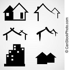reale, casa, ditta, proprietà, logotipo