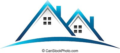 reale, case, proprietà, logotipo