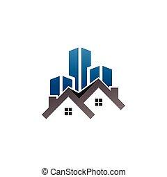 reale, costruzione, proprietà, sagoma, logotipo