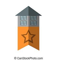 reale, costruzione, stella, proprietà, costruzione, uggia, bandiera