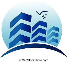 reale, costruzioni, logotipo, proprietà