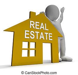 reale, costruzioni, terra, proprietà, casa, vendita, mostra