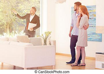 reale, esposizione, agente immobiliare, vista