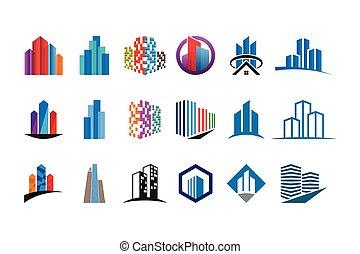 reale, logotipo, collezione, proprietà, sagoma