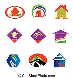 reale, logotipo, collezione, proprietà